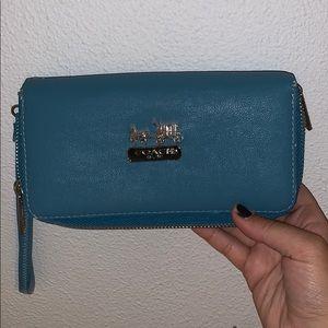 Blue Coach Wallet